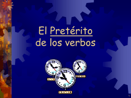 The Preterit - Valencia High School