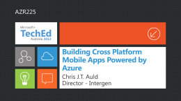 Building Cross Platform Mobile Apps Powered by Azure