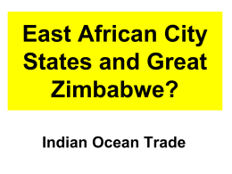15 East African City States and Great Zimbabwe 2015