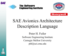 SAE Avionics Architecture Description Language: A