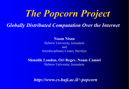 Popcorn (Paradime Of Parallel Computation Over Remote