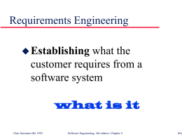 Requirements Engineering - The Stanford University …
