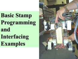 About the Basic Stamp - Electrical & Computer Engineering