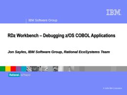 Debugging z/OS COBOL Programs