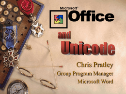 Microsoft Office97 and Unicode