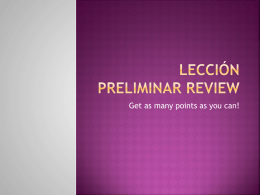 Leccion Preliminar Review