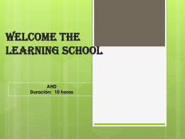 Welcome! Learning in school