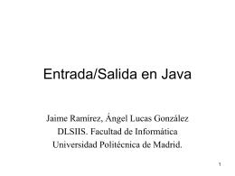 Entrada/Salida en Java