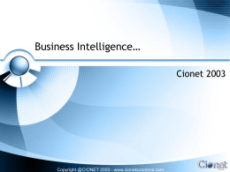 Business Intelligence…