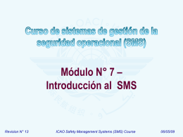 ICAO SMS Module 07 - Introduction to SMS