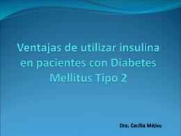 Ventajas de utilizar insulina en personas con Diabetes