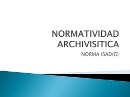 NORMATIVIDAD ARCHVISITICA