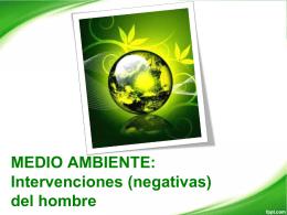 Diapositiva 1 - Medio Ambiente: Medidas y Cuidados