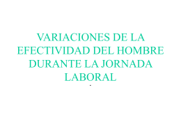 VARIACIONES DE LA EFECTIVIDAD DEL HOMBRE …