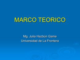 MARCO TEORICO - Facultad de Medicina UFRO