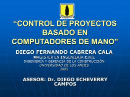 control de proyectos basado en computadores de mano
