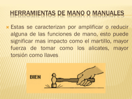 HERRAMIENTAS DE MANO O MANUALES