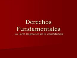 Derechos Fundamentales Parte Dogmatica
