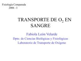 TRANSPORTE DE O2 EN SANGRE (Parte I)