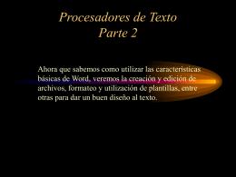 Procesadores de Texto Parte 2