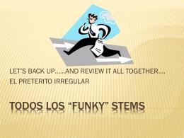 """TODOS LOS """"FUNKY"""" STEMS"""
