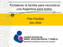 Fortalecer la familia para reconstruir una Argentina para