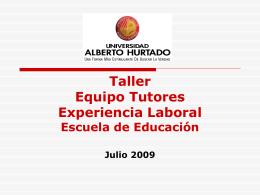 TALLER DE TUTORES