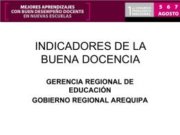 INDICADORES DE LA BUENA DOCENCIA