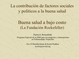 The Contribution of Social and Political Factors to Good