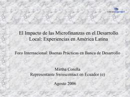 El Impacto de las Microfinanzas en el Desarrollo Local