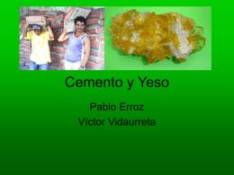 Cemento y Yeso - tecnologiaindustrialuno
