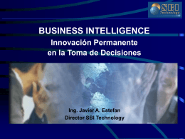 Business Intelligence - Universidad Abierta Interamericana
