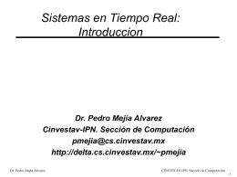 Introduccion a los Sistemas de Tiempo Real