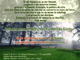 Tiempo Ordinario 13 domingo -C-