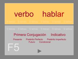 Verbo HABLAR - 9 l e t r a s | Blog de recursos educativos