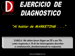 Al hablar de Marketing