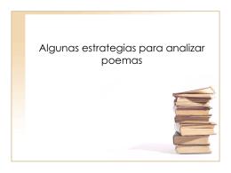Algunas estrategias para analizar poemas