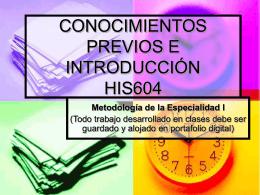 CONOCIMIENTOS PREVIOS HIS604