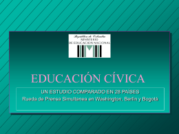 LA EDUCACION CIVICA EN COLOMBIA