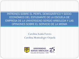 Diapositiva 1 - U. SERGIO ARBOLEDA
