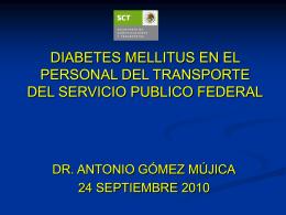 DIABETES MELLITUS EN EL PERSONAL DEL TRANSPORTE …
