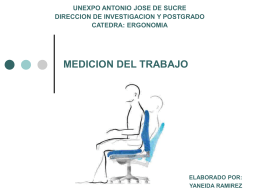 MEDICION DEL TRABAJO - ERGONOMIA-Y