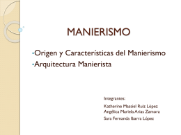 MANIERISMO - dona5537 | Just another WordPress.com site