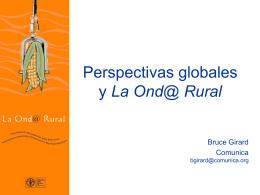 Perspectivas globales y La Onda Rural