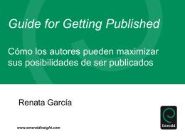 Como los autores pueden maximizar sus oportunidades …