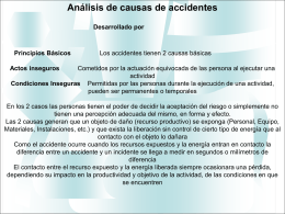 Analisis de causas de accidentes Principios Los accidentes