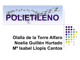 POLIETILENO - Universidad de Alicante