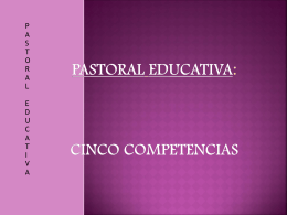 Pastoral educativa: cinco competencias