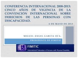 CONFERENCIA INTERNACIONAL 2008