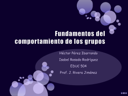 Fundamentos del comportamiento de los grupos